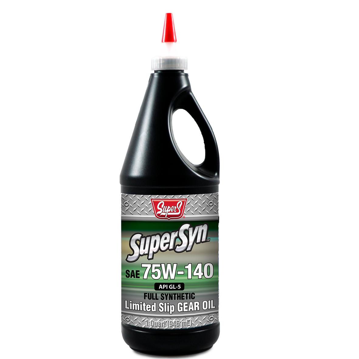 SUPER S SUPERSYN SYNTHETIC 75W-140 LIMITED SLIP GL-5 GEAR OIL